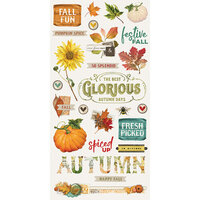 Simple Stories - Autumn Splendor Collection - Chipboard Stickers