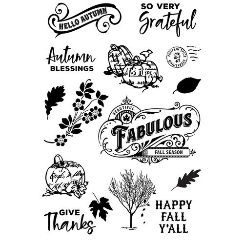 Simple Stories - Autumn Splendor Collection - Clear Photopolymer Stamps