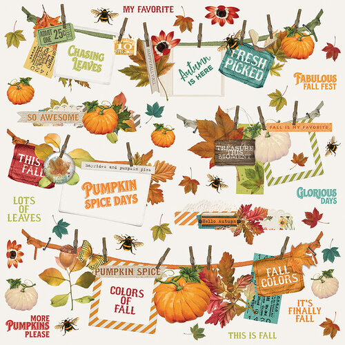 Simple Stories - Autumn Splendor Collection - 12 x 12 Banner Sticker