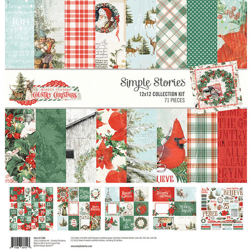 Simple Stories - Country Christmas Collection - 12 x 12 Collection Kit