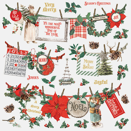 Simple Stories - Country Christmas Collection - 12 x 12 Banner Sticker