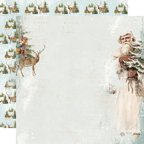 Simple Stories - Country Christmas Collection - 12 x 12 Double Sided Paper - Joyous Noel