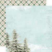 Simple Stories - Country Christmas Collection - 12 x 12 Double Sided Paper - O Christmas Tree