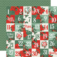 Simple Stories - Country Christmas Collection - 12 x 12 Double Sided Paper - 2 x 2 Elements