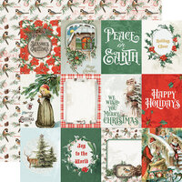 Simple Stories - Country Christmas Collection - 12 x 12 Double Sided Paper - 3 x 4 Elements