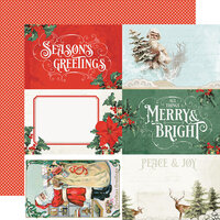 Simple Stories - Country Christmas Collection - 12 x 12 Double Sided Paper - 4 x 6 Elements