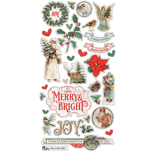 Simple Stories - Country Christmas Collection - Chipboard Stickers