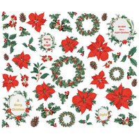 Simple Stories - Country Christmas Collection - Floral Bits and Pieces