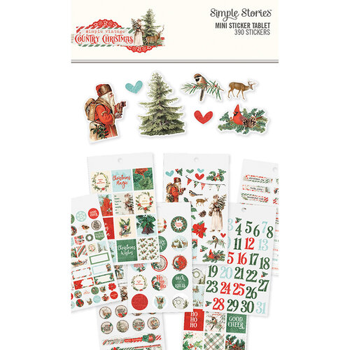 Simple Stories - Country Christmas Collection - Mini Sticker Tablet