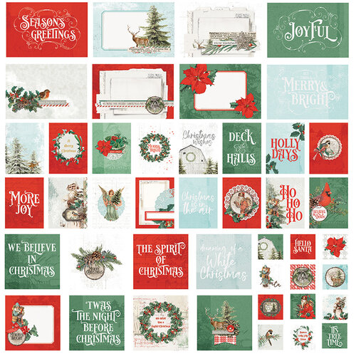 Simple Stories - Country Christmas Collection - SNAP Cards