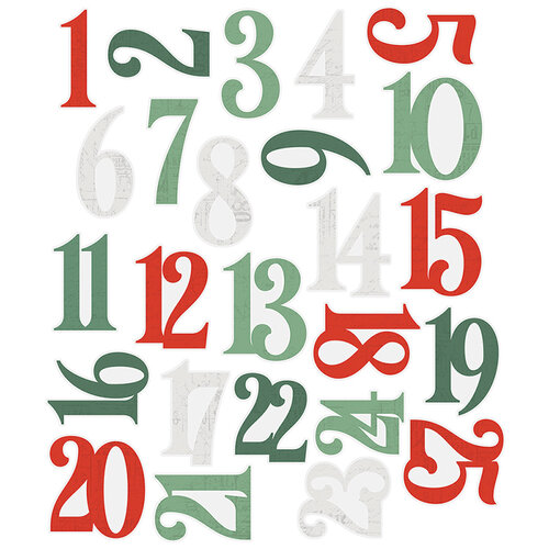 Simple Stories - Country Christmas Collection - Number Pocket Pieces