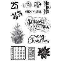 Simple Stories - Country Christmas Collection - Clear Photopolymer Stamps