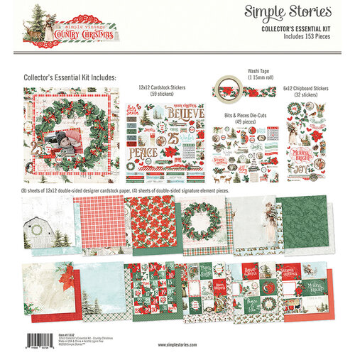 Simple Stories - Country Christmas Collection - 12 x 12 Collector's Essential Kit