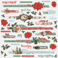 Simple Stories - Country Christmas Collection - 12 x 12 Border Stickers