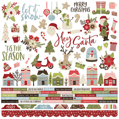 Simple Stories - Christmas - Holly Jolly Collection - 12 x 12 Combo Sticker