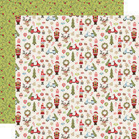 Simple Stories - Christmas - Holly Jolly Collection - 12 x 12 Double Sided Paper - Oh What Fun!