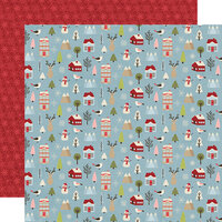 Simple Stories - Christmas - Holly Jolly Collection - 12 x 12 Double Sided Paper - Winter Wonderland