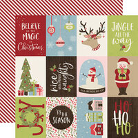 Simple Stories - Christmas - Holly Jolly Collection - 12 x 12 Double Sided Paper - 3 x 4 Elements