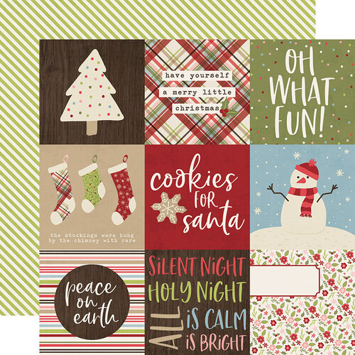 Simple Stories - Christmas - Holly Jolly Collection - 12 x 12 Double Sided Paper - 4 x 4 Elements