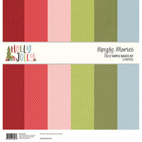 Simple Stories - Christmas - Holly Jolly Collection - 12 x 12 Simple Basics Kit