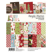 Simple Stories - Christmas - Holly Jolly Collection - 6 x 8 Paper Pad