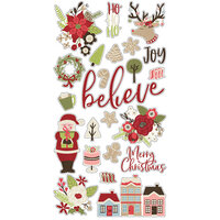Simple Stories - Christmas - Holly Jolly Collection - Chipboard Stickers
