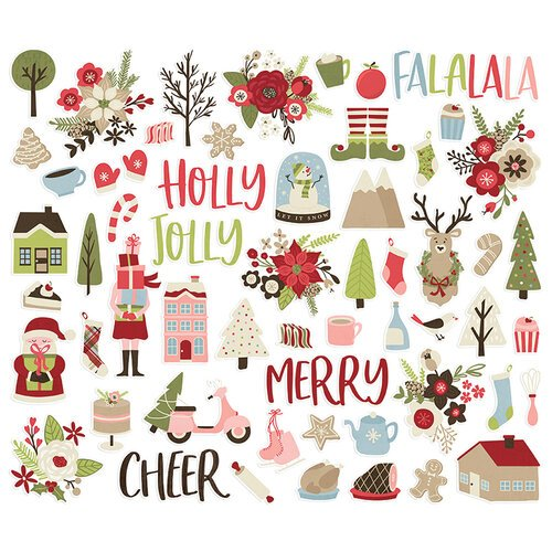 Simple Stories - Christmas - Holly Jolly Collection - Bits and Pieces
