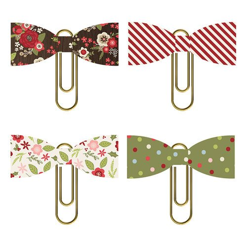 Simple Stories - Christmas - Holly Jolly Collection - Bow Clips