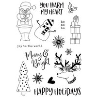 Simple Stories - Christmas - Holly Jolly Collection - Clear Photopolymer Stamps