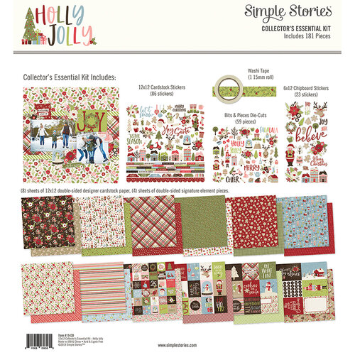 Simple Stories - Christmas - Holly Jolly Collection - 12 x 12 Collector's Essential Kit