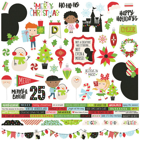 Simple Stories - Say Cheese Christmas - Combo Sticker
