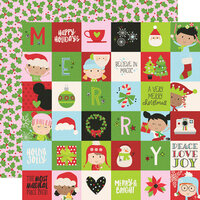 Simple Stories - Say Cheese Christmas - 12 x 12 Double Sided Paper - 2 x 2 Elements