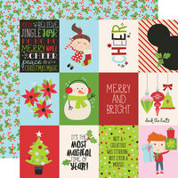 Simple Stories - Say Cheese Christmas - 12 x 12 Double Sided Paper - 3 x 4 Elements