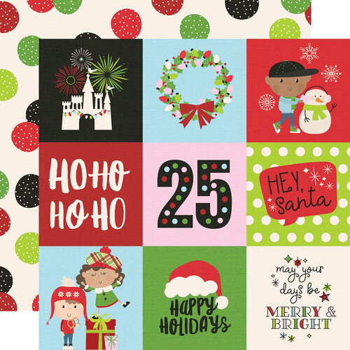 Simple Stories - Say Cheese Christmas - 12 x 12 Double Sided Paper - 4 x 4 Elements