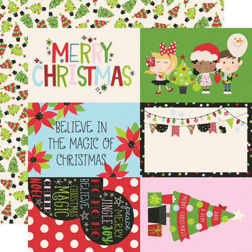 Simple Stories - Say Cheese Christmas - 12 x 12 Double Sided Paper - 4 x 6 Elements