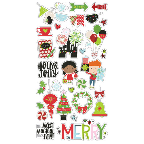 Simple Stories - Say Cheese Christmas - Chipboard Stickers