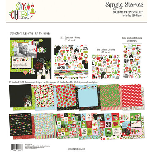 Simple Stories - Say Cheese Christmas - 12 x 12 Collector's Essential Kit
