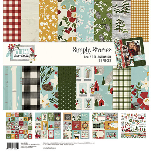 Simple Stories - Winter Farmhouse Collection - 12 x 12 Collection Kit