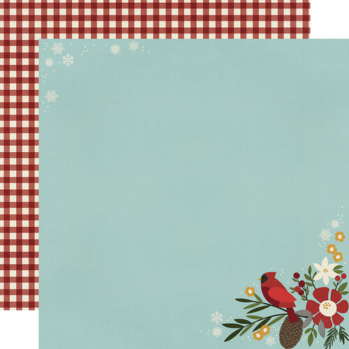 Simple Stories - Winter Farmhouse Collection - 12 x 12 Double Sided Paper - Hello Winter