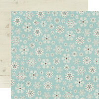 Simple Stories - Winter Farmhouse Collection - 12 x 12 Double Sided Paper - Feelin' Frosty