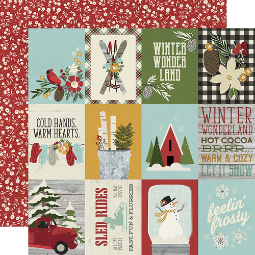 Simple Stories - Winter Farmhouse Collection - 12 x 12 Double Sided Paper - 3 x 4 Elements