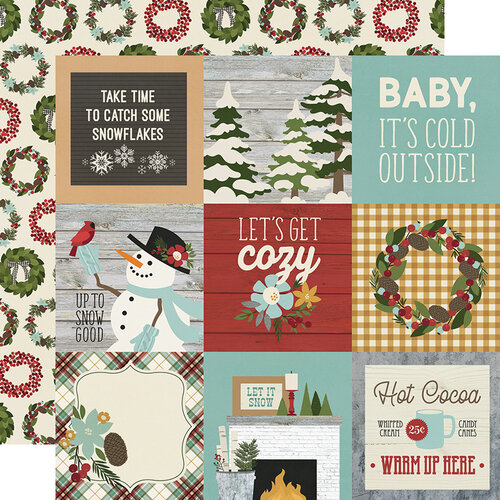 Simple Stories - Winter Farmhouse Collection - 12 x 12 Double Sided Paper - 4 x 4 Elements