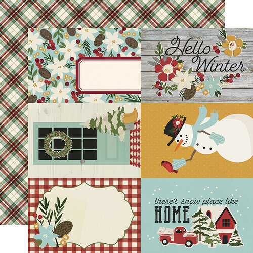 Simple Stories - Winter Farmhouse Collection - 12 x 12 Double Sided Paper - 4 x 6 Elements