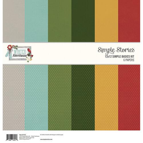 Simple Stories - Winter Farmhouse Collection - 12 x 12 Simple Basics Kit