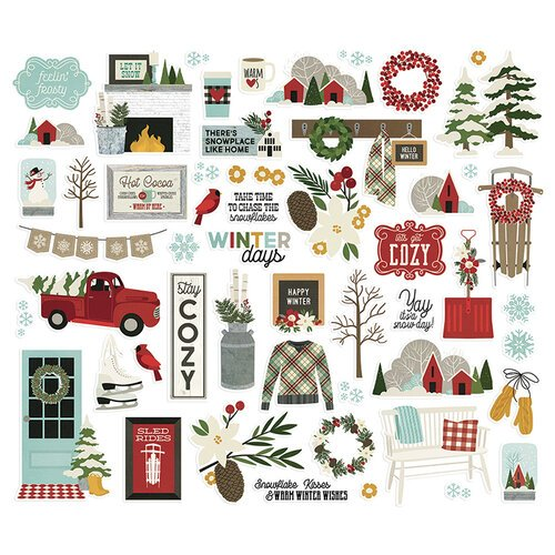 Simple Stories - Winter Farmhouse Collection - Bits and Pieces