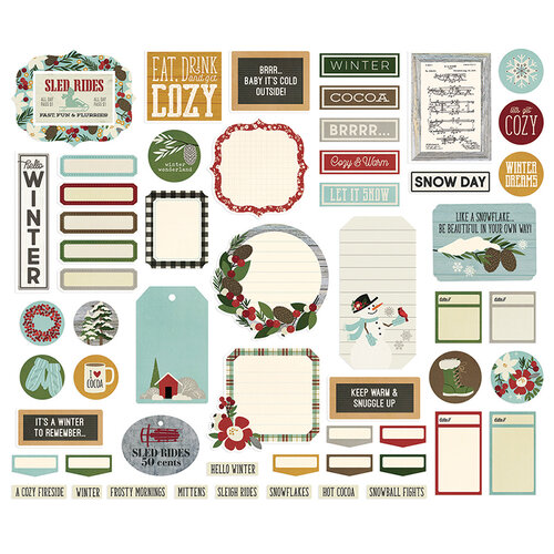 Simple Stories - Winter Farmhouse Collection - Journal Bits and Pieces
