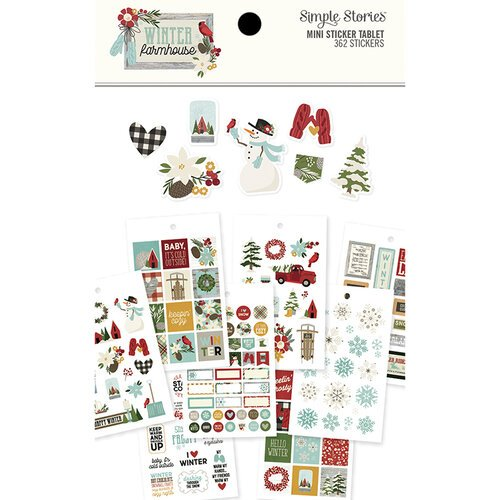 Simple Stories - Winter Farmhouse Collection - Mini Sticker Tablet