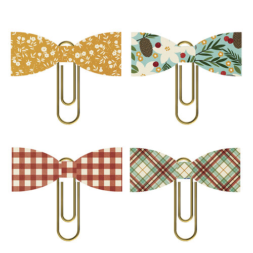Simple Stories - Winter Farmhouse Collection - Bow Clips