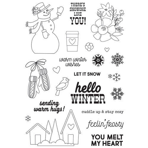 Simple Stories - Winter Farmhouse Collection - Clear Photopolymer Stamps