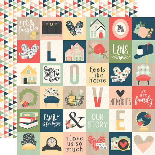Simple Stories - So Happy Together Collection - 12 x 12 Double Sided Paper - 2 x 2 Elements